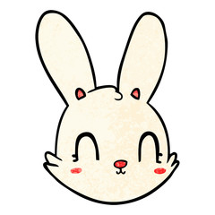 cartoon bunny face