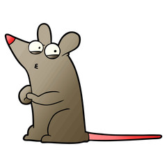 cartoon suspicious mouse