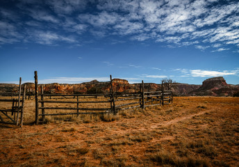Ghost Ranch Corral Landscape