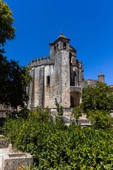 The  Round Church (rotunda) in Tomar, Portugal, built by the Knights Templar in the 12th century, modeled after the Dome of the Rock in Jerusalem,