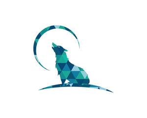 Wolf polygon vector illustration