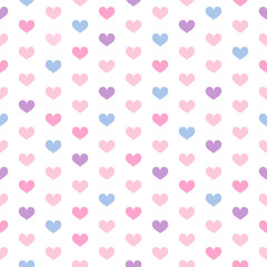 Wall Mural - Heart seamless pattern vector illustration. hearts with sweet pastel color.
