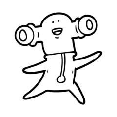 friendly cartoon alien