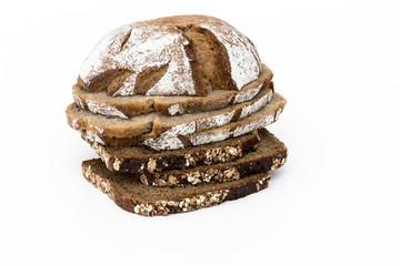 Brotstapel aus verschiedenen Brotsorten
