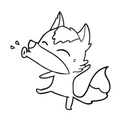 howling wolf cartoon