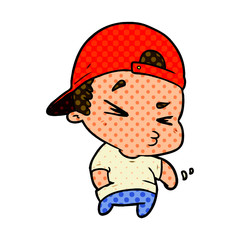 cartoon cool kid