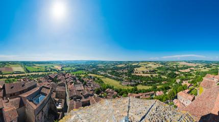 Cordes-sur-Ciel, France from Saint Michel belltower