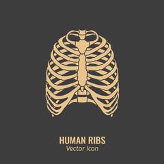 Human ribs icon