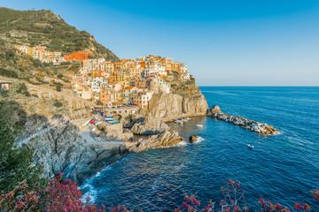 Manarola in Cinque Terre, Liguria, Italy.