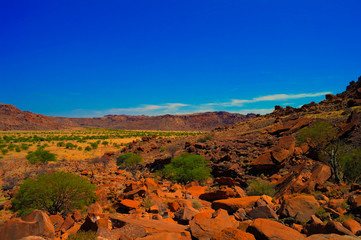Twyfelfontein archaeological site in Namibia