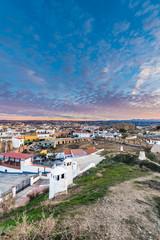 Sunrise in Guadix, Granada, Andalusia, Spain.