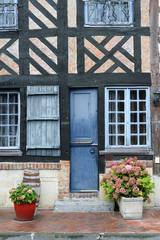 Detail im Fachwerkdorf Beuvron-en-Auge Normandie