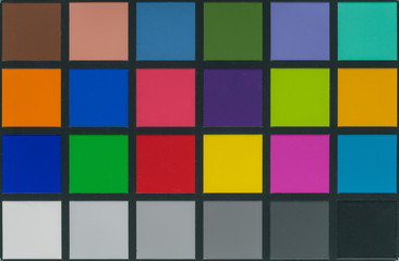 color checker equipment of professional photographer