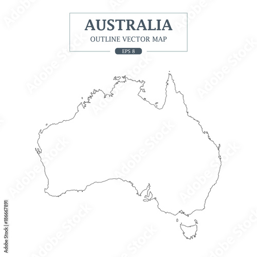 USA Map outline on white background Vector Illustration ...