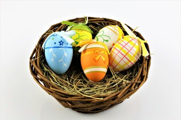 An concept Image of a easter eggs decoration