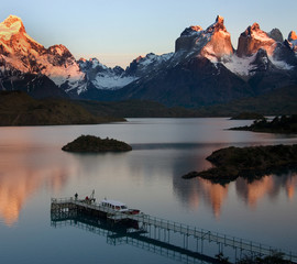 Sunrise in Torres del Paine National Park - Patagonia - Chile