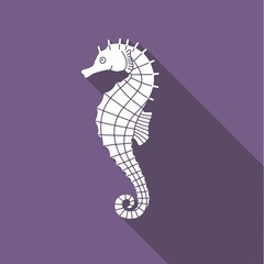 Icon seahorse with shadow