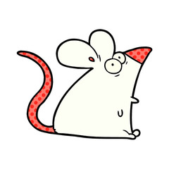 cartoon frightened mouse