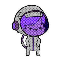 angry cartoon space girl
