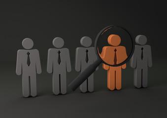 recursos humanos gris naranja