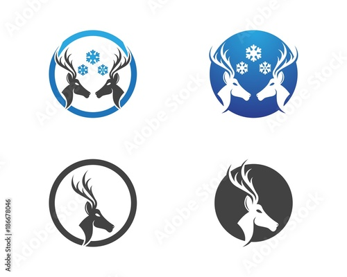 Deer Head Logo Design Template Stock Image And Royalty Free Vector