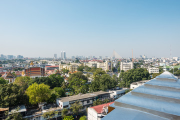 View of Bangkok from the Golden Mount at Wat Saket