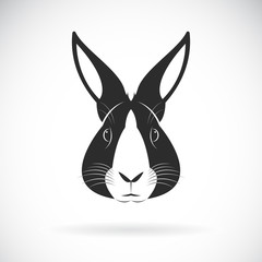 Vector of a rabbit head design on white background. Wild Animals. Vector illustration.