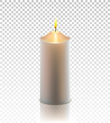 vector christmas realistic golden candle isolated
