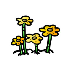 cartoon flowers