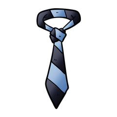 cartoon striped office tie