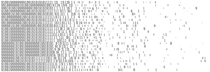 Binary code digital technology. Data Sorting. From Chaos to System. Artificial intelligence.Big data.Smart system.  Papier Peint