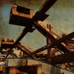 Structure portuaire désafectée