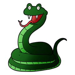 cartoon happy snake