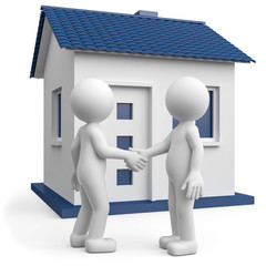 3d Männchen Hauskauf Mietvertrag