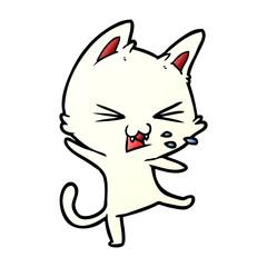 cartoon cat throwing a tantrum