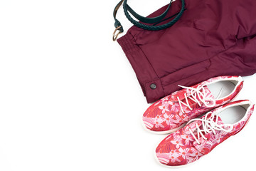 Set of women clothes casual style.