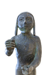Copper statuette of Medina de las Torres Warrior, Spain