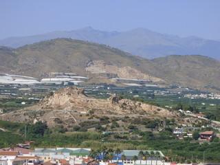 Salobreña, pueblo en la Costa Granadina o Costa Tropical, en la provincia de Granada, comunidad autónoma de Andalucía (España)
