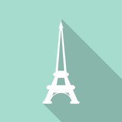 Eiffel tower icon. Noise texture. Vector illustration