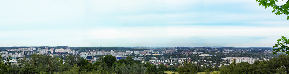 Panorama of city Lviv, Ukraine. City landscape