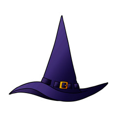 cartoon witch hat