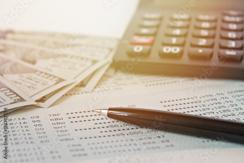 Business, finance, investment, savings or accounting concept ...