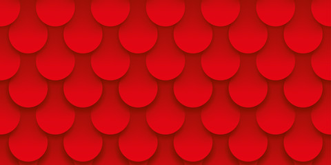 Scales red background, volume pattern, abstract vector wallpaper