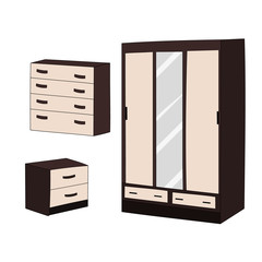 furniture collection, cabinets