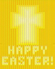 Happy Easter knitted wallpaper, vector illustration