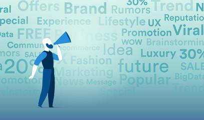 Promoter che diffonde i valori e la comunicazione del proprio brand