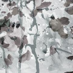 interior modern abstract gray painting, illustration