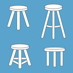 three legged stool set