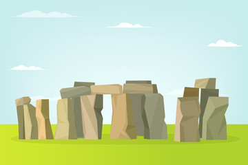 Stonehenge vector landscape