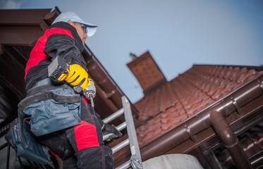 Caucasian Roof Worker